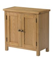 Burford Oak Small 2 Door Cupboard