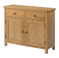 Burford Oak 2 Door 2 Drawer Sideboard