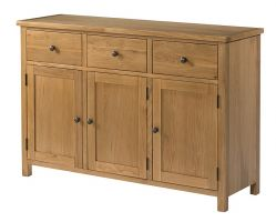 Burford Oak 3 Door 3 Drawer Sideboard