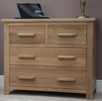 Opus Oak 2 over 2 Chest of Drawers