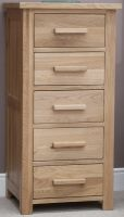 Opus Oak 5 Drawer Slim Chest