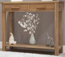 Opus Oak 2 Drawer Console Table