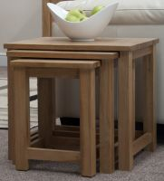 Opus Oak Nest of 3 Tables