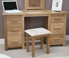 Opus Oak Double Pedestal Dressing Table   Stool