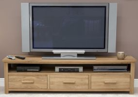 Opus Oak Widescreen TV Cabinet