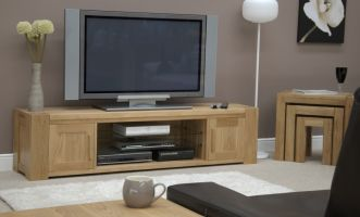 Mode Oak Large Widescreen TV Cabinet