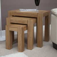 Mode Oak Nest of Tables