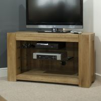 Mode Oak Corner TV Cabinet