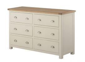 Portland Cream 6 Drawer Wide Chest of Drawers