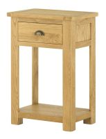 Portland Oak One Drawer Console Table