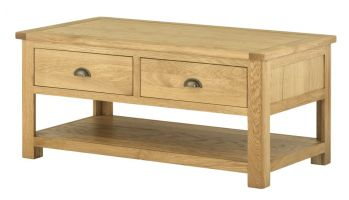 Northport Oak Coffee Table with Drawers