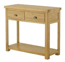 Northport Oak 2 Drawer Console Table