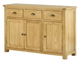 Portland Oak 3 Door 3 Drawer Sideboard