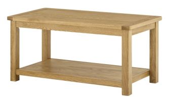 Northport Oak Coffee Table with Shelf