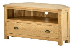 Northport Oak Corner TV Cabinet
