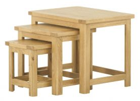 Northport Oak Nest of Tables