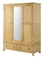 Northport Oak Triple Wardrobe