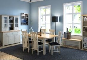 Portland Stone Extending Table with 4 Chairs