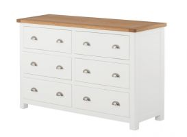 Northport White 6 Drawer Wide Chest of Drawers