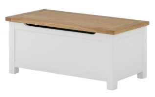 Northport White Blanket Box