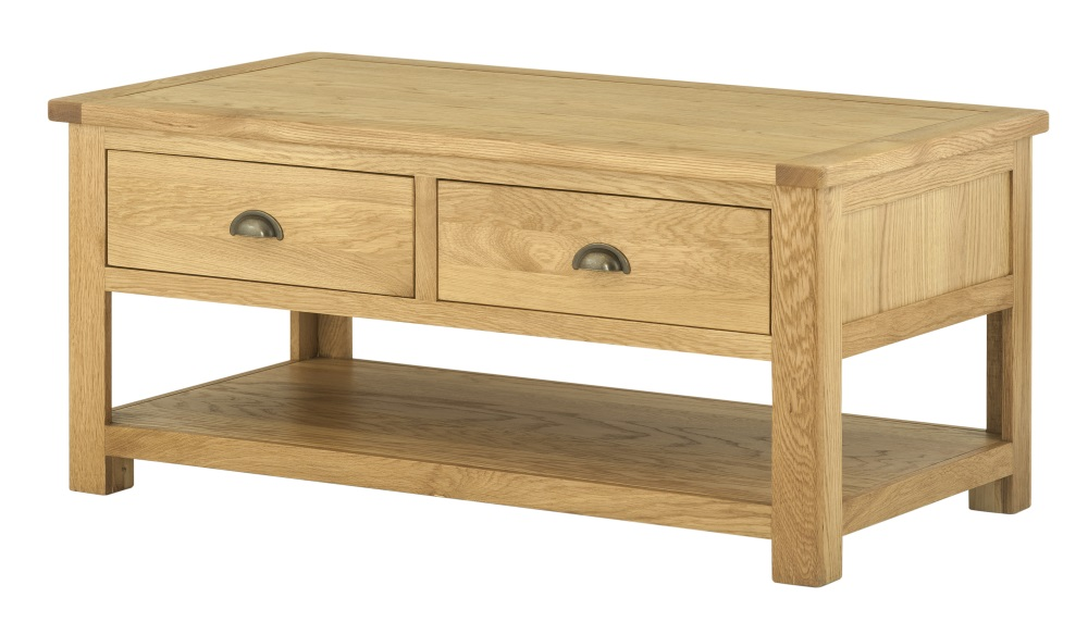 Northport Oak Coffee Table Drawers